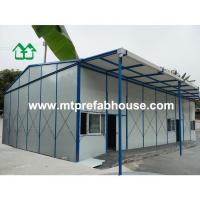 Quality Signle storey prefabricated house with customized canopy for sale