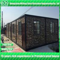 Quality Steel structure Detachable container house with cultural stone sandwich panel for sale