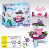Ice and snow princess DIY house garden flower fairy tales series - magic cabin (with light, music)
