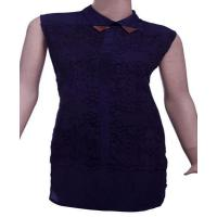 Quality Poly Cotton Womens Sleeveless dress with burn out effect. for sale