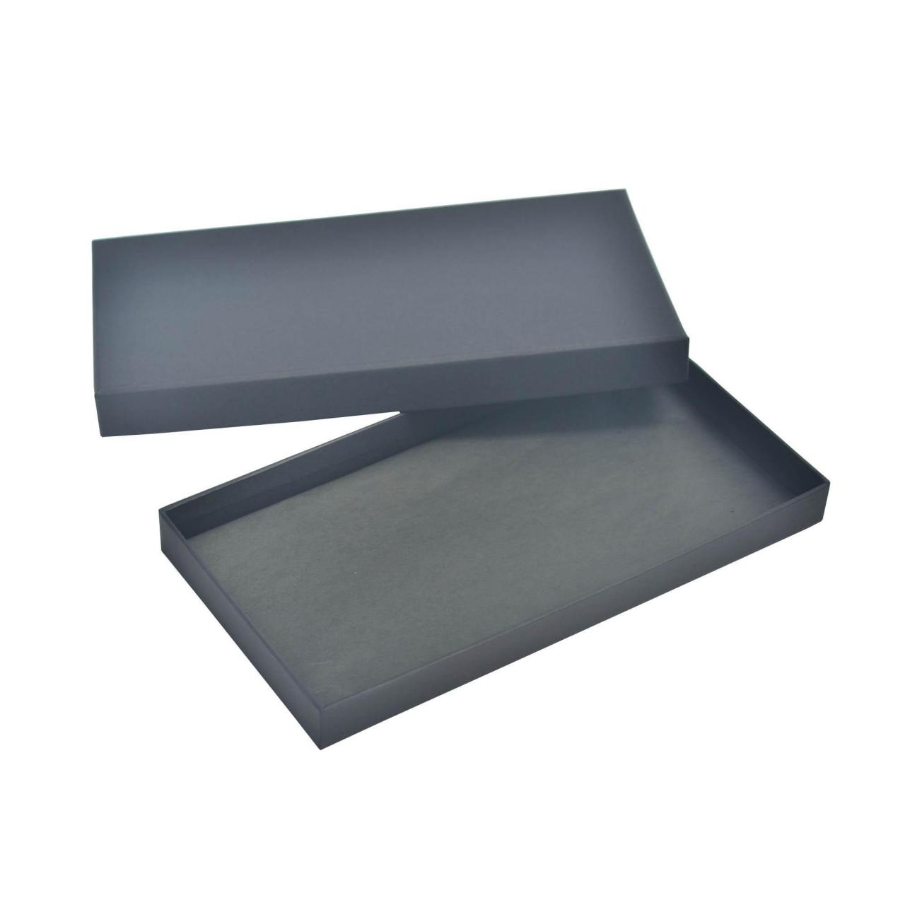 Quality Black Classical Two Pieces Lid Gift Boxes Tissue Paper Insert Custom Design for sale